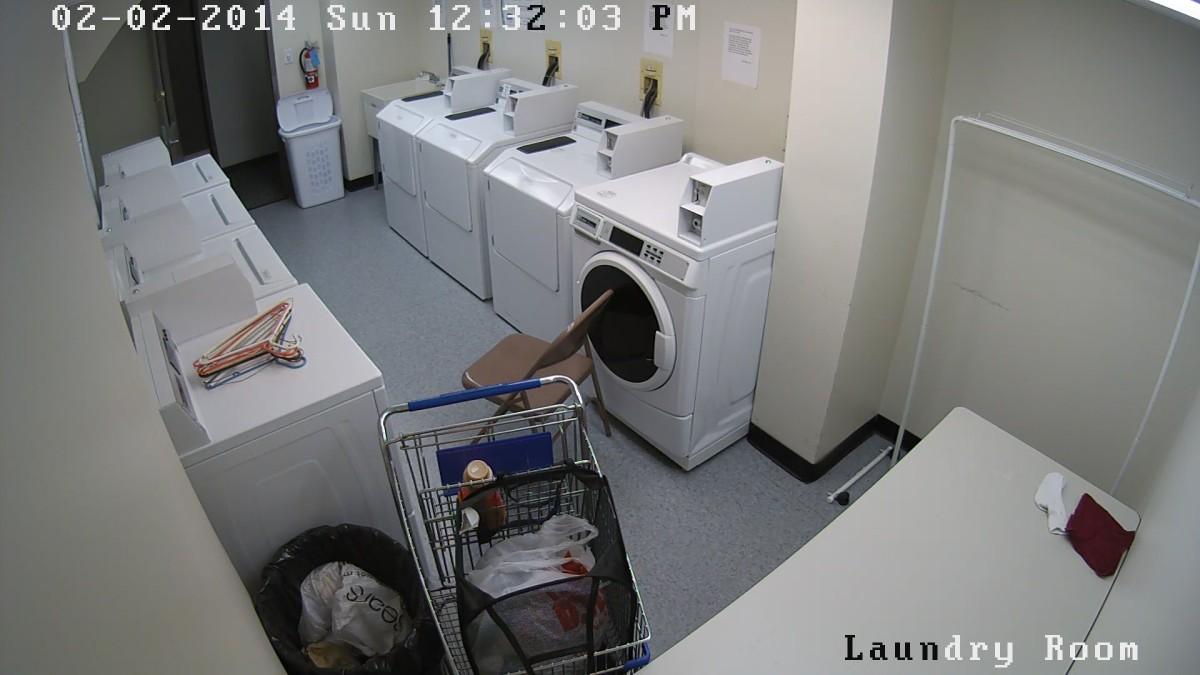 Laundry room camera